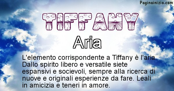 Tiffany - Elemento naturale per Tiffany