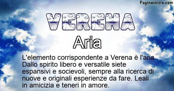 Verena - Elemento naturale per Verena