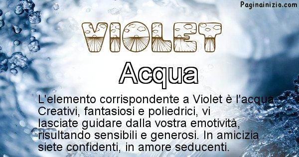 Violet - Elemento naturale per Violet