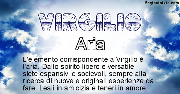 Virgilio - Elemento naturale per Virgilio