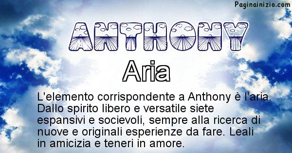 Anthony - Elemento naturale associato al cognome Anthony