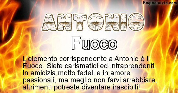 Antonio - Elemento naturale associato al cognome Antonio