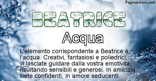 Beatrice - Elemento naturale associato al cognome Beatrice