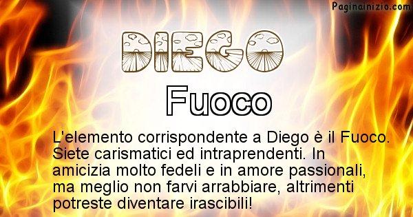 Diego - Elemento naturale associato al cognome Diego