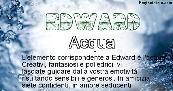Edward - Elemento naturale associato al cognome Edward