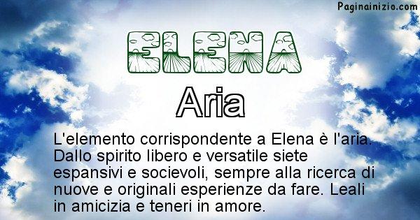Elena - Elemento naturale associato al cognome Elena