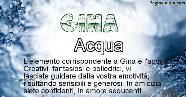 Gina - Elemento naturale associato al cognome Gina