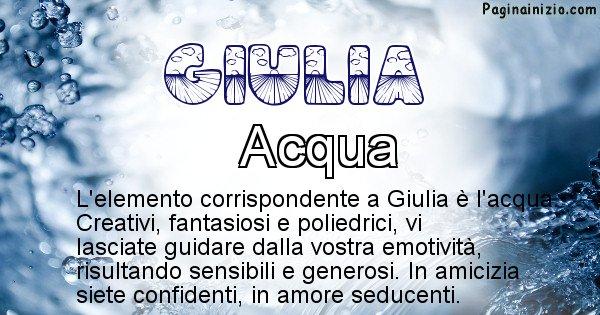 Giulia - Elemento naturale associato al cognome Giulia
