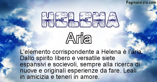 Helena - Elemento naturale associato al cognome Helena