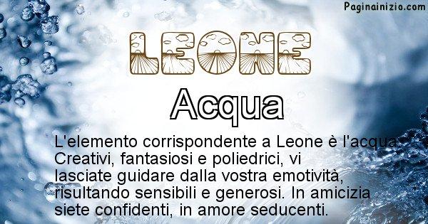 Leone - Elemento naturale associato al cognome Leone