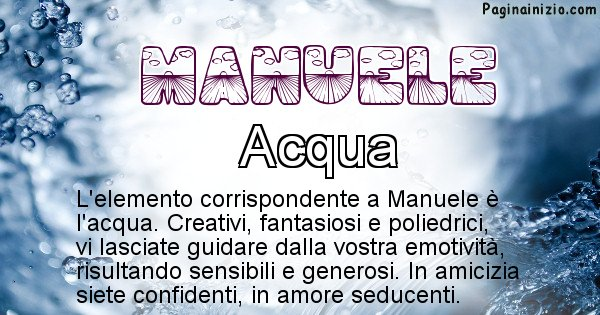 Manuele - Elemento naturale associato al cognome Manuele