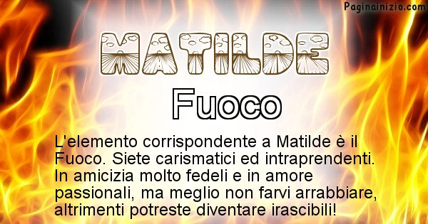 Matilde - Elemento naturale associato al cognome Matilde