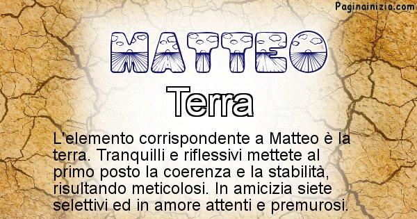 Matteo - Elemento naturale associato al cognome Matteo