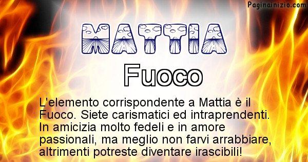 Mattia - Elemento naturale associato al cognome Mattia