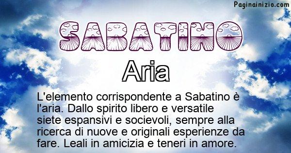 Sabatino - Elemento naturale associato al cognome Sabatino