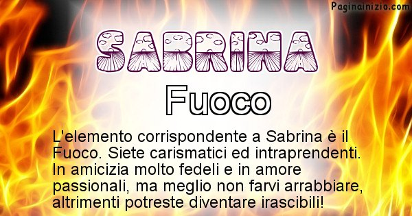 Sabrina - Elemento naturale associato al cognome Sabrina