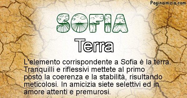 Sofia - Elemento naturale associato al cognome Sofia