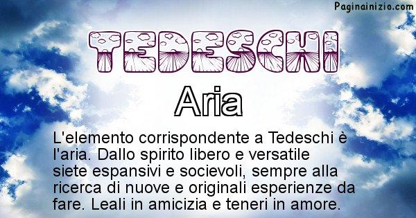 Tedeschi - Elemento naturale associato al cognome Tedeschi