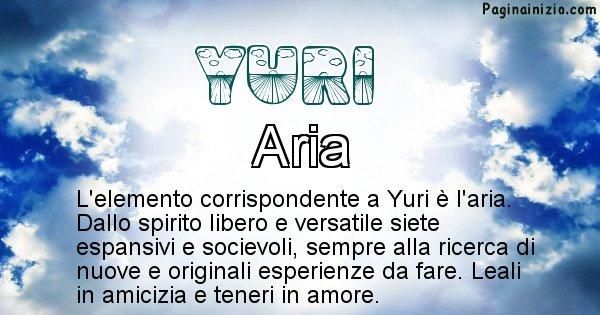 Yuri - Elemento naturale associato al cognome Yuri