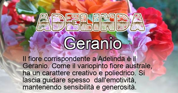 Adelinda - Fiore associato al Nome Adelinda