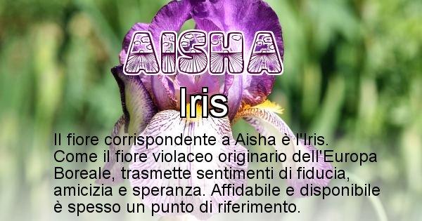 Aisha - Fiore associato al Nome Aisha