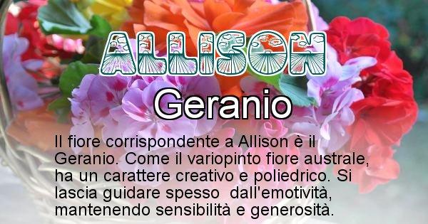 Allison - Fiore associato al Nome Allison