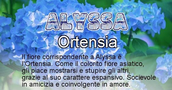 Alyssa - Fiore associato al Nome Alyssa