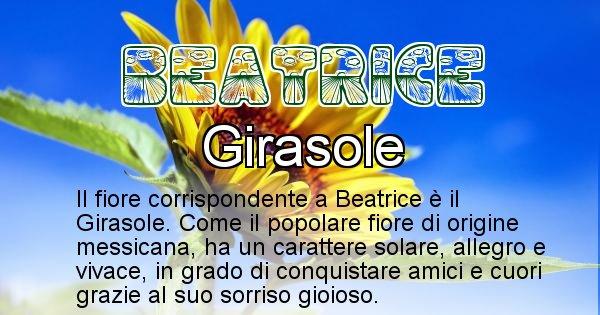 Beatrice - Fiore associato al Nome Beatrice