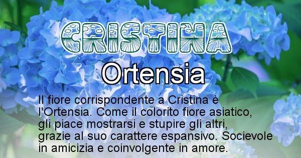 Cristina - Fiore associato al Nome Cristina