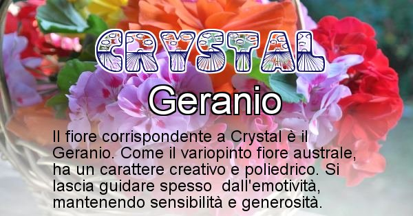 Crystal - Fiore associato al Nome Crystal