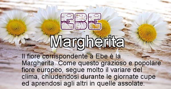Ebe - Fiore associato al Nome Ebe