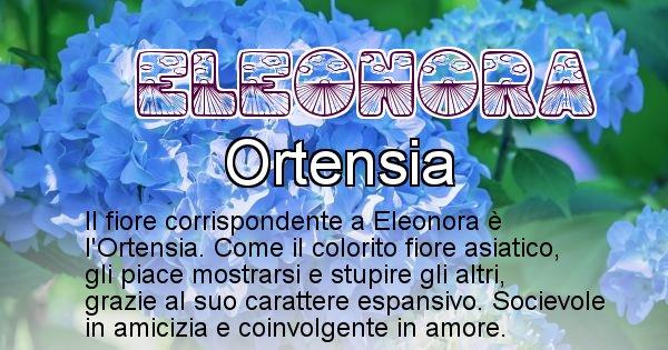 Eleonora - Fiore associato al Nome Eleonora