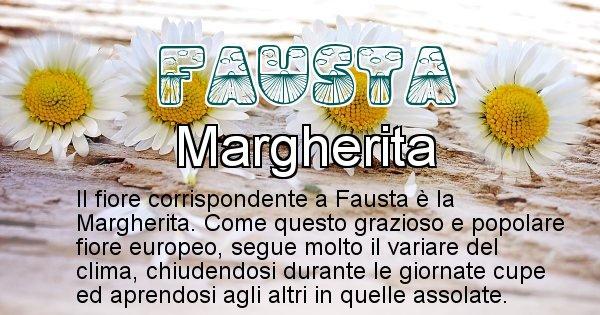 Fausta - Fiore associato al Nome Fausta