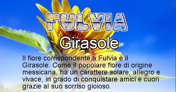 Fulvia - Fiore associato al Nome Fulvia