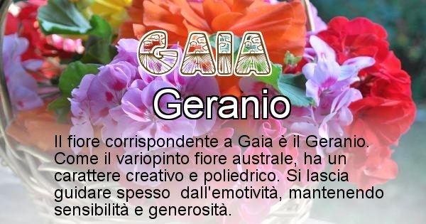 Gaia - Fiore associato al Nome Gaia