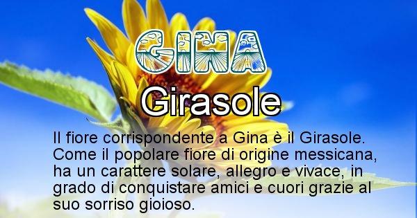 Gina - Fiore associato al Nome Gina