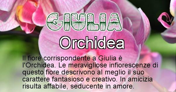 Giulia - Fiore associato al Nome Giulia