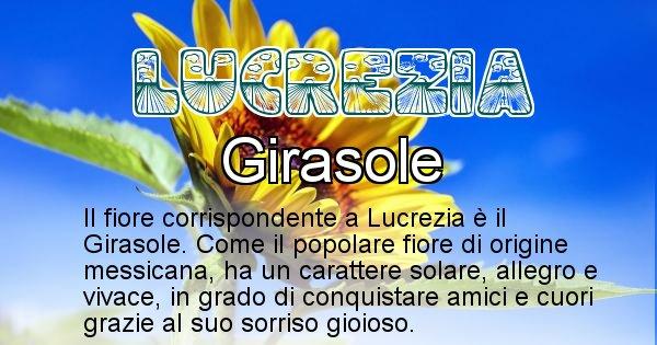 Lucrezia - Fiore associato al Nome Lucrezia