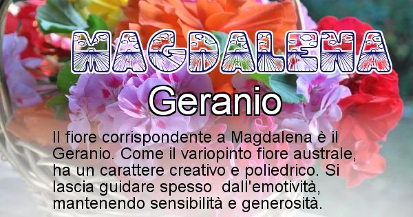 Magdalena - Fiore associato al Nome Magdalena