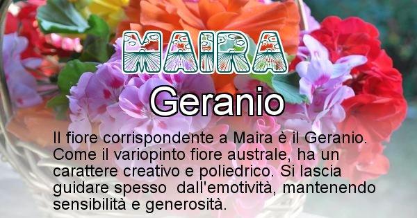 Maira - Fiore associato al Nome Maira