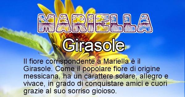 Mariella - Fiore associato al Nome Mariella