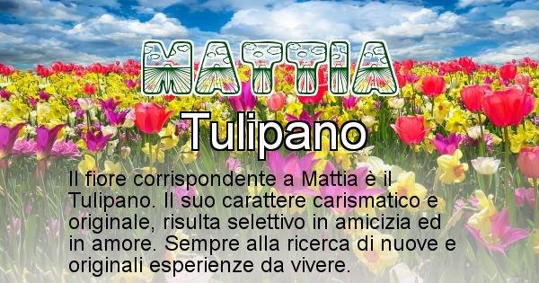 Mattia - Fiore associato al Nome Mattia