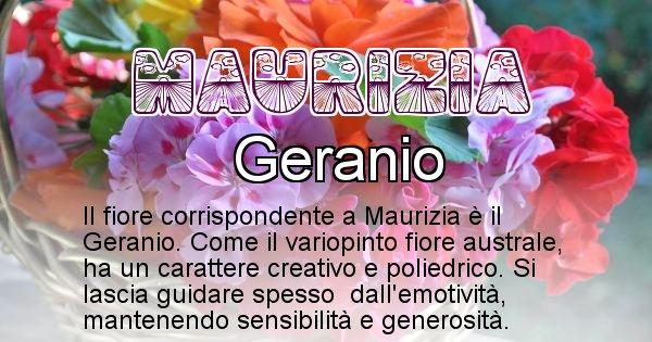 Maurizia - Fiore associato al Nome Maurizia