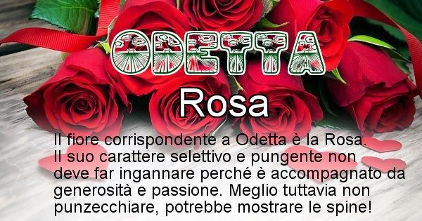 Odetta - Fiore associato al Nome Odetta