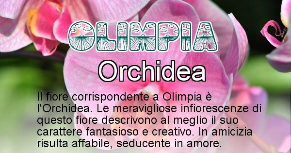 Olimpia - Fiore associato al Nome Olimpia