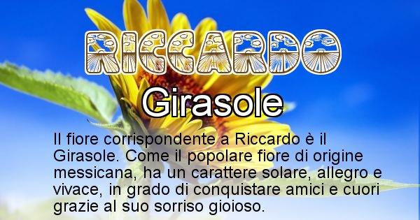 Riccardo - Fiore associato al Nome Riccardo
