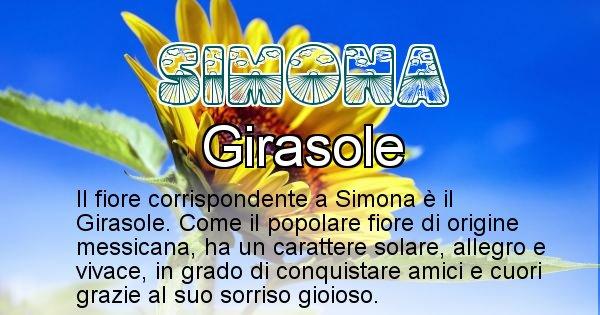 Simona - Fiore associato al Nome Simona