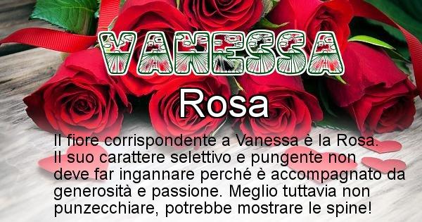 Vanessa - Fiore associato al Nome Vanessa