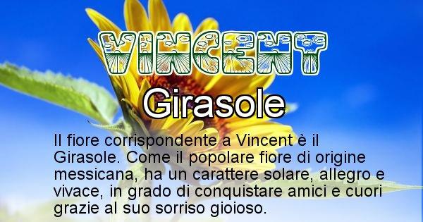Vincent - Fiore associato al Nome Vincent