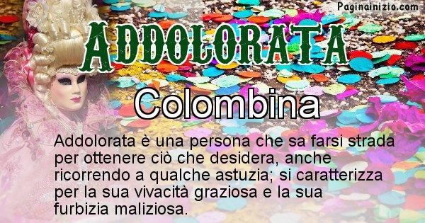 Addolorata - Maschera associata al nome Addolorata